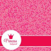 Pink Princess Crown Frame Vector Illustration EPS10