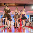 Постер, плакат: BUCHAREST ROMANIA DECEMBER 3: Fashion models wears clothes ma