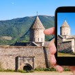 Постер, плакат: Tourist photographs of Tatev Monastery in Armenia