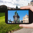 Постер, плакат: Snapshot of Empress Maria Theresa statue in Vienna