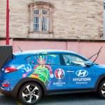 Постер, плакат: Hyundai Tucson Official Partner car of UEFA trophy
