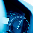 Постер, плакат: Speedometer close up with excesive speed