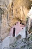 Charakteristickou kostel v Furore Fjord na 121 pobřeží Amalfi