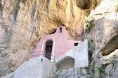 Charakteristickou kostel v Furore Fjord na 125 pobřeží Amalfi