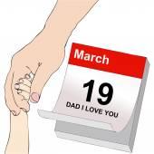 Den otců, otec a dítě se drží za ruce