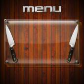 Rustic Menu Background - Glass Plate