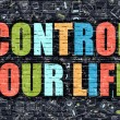 Постер, плакат: Control Your Life in Multicolor Doodle Design