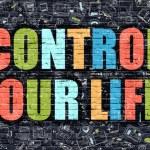 Постер, плакат: Control Your Life in Multicolor Doodle Design