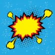 Постер, плакат: Explosion steam bubble pop art vector funny funky banner comic