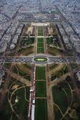 Budovy v Paříž, Francie - pohled z Eiffelovy věže