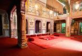 Interieur des Haveli Herrenhaus Zimmers gehört zu reichen indischen Familie von Rajasthan