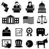 Voleb a hlasování ikony