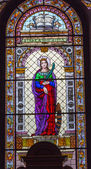 Saint Cahterine Stained Glass Saint Stephens Cathedral Budapest Hungary