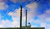 Pier Sky Reflection Westport Grays Harbor Washington State