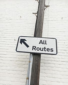All routes sign