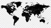 Szia ábra részlet fekete vektor politikai világtérkép