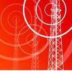 Antenne-Übertragung Kommunikation Turm Vektor Hintergrund
