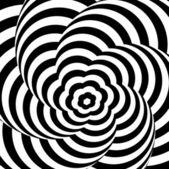 Abstraktní vektorová ilustrace optický klam