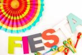 Dekorációk az ünneplő Fiesta