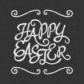 Velikonoční přání typografické šablona
