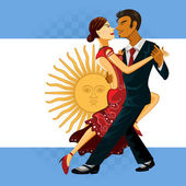 Couple Performing an Argentines Tango Dance