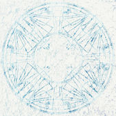 Grunge round ornament on a white background