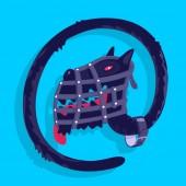 Cane di simbolo di vettore postale