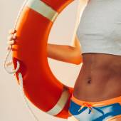Sommer. Lifebuoy. Mode Strand Stil
