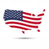 USA map and  flag pattern  Illustratiom EPS10