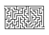 Black vector maze labyrinth illustration