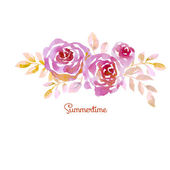 Pink pastel elegant abstract roses on white background. watercol