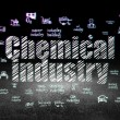 Постер, плакат: Industry concept: Chemical Industry in grunge dark room