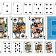 Постер, плакат: Poker size Club playing cards plus reverse