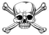 Lebka a zkřížené kosti
