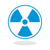 Icon of a radioactive symbol for website or mobile application