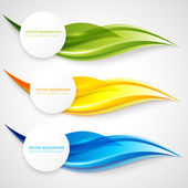 Vector abstract background design wavy  Brochure design templates collection and waving
