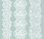 White lacy vintage elegant trim Vector illustration