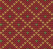 Seamless knitting vector pattern
