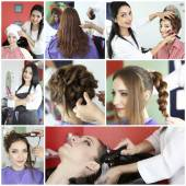 Beauty salon collage