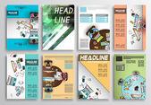 Satz von Flyer-Design, Web-Vorlagen
