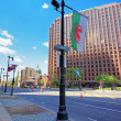 Постер, плакат: Benjamin Franklin Parkway in the City Center of Philadelphia