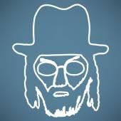 Ortodox zsidó férfi a kalap ikon