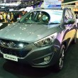 Постер, плакат: NONTHABURI DECEMBER 1: Hyundai Tucson SUV car display at Thail