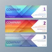 Set of colorful geometric web site banners templates