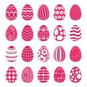 Készlet a húsvéti tojás díszített dísztárgyak