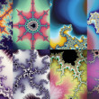 Постер, плакат: Set of mandelbrot formula fractals digital artwork for creative graphic design