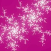 Snowflake like fractal swirls, digital artwork for creative graphic design