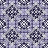 Vector seamless patchwork background from ornaments geometric patterns stylized flowers and leaves Moroccan texture
