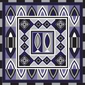 Geometrical abstract pattern from decorative ethnic ornament elements   African Mexican Turkmen texture (background) for packing textile interior web design