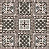 Navajo art boho seamless pattern Ethnic geometric print Aztec and African colorful repeating background texture Fabric cloth design wallpaper wrapping Vector illustration